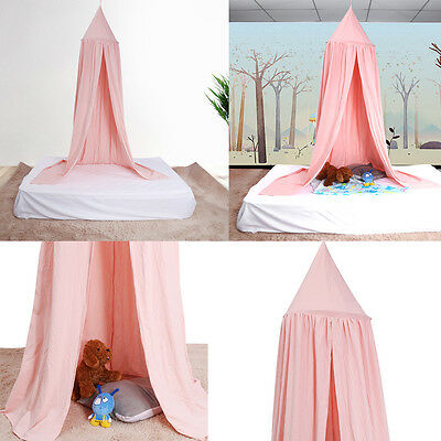 New Safe Round Cotton Curtain Dome Bed Canopy Netting Princess Mosquito Net