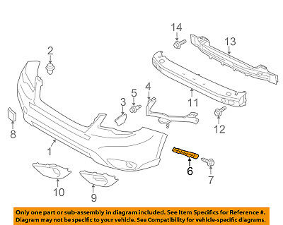 SUBARU FORESTER 2013-/>NEW BUMPER FENDER BRACKET MOUNTING STRIP RIGHT 57707-SG020