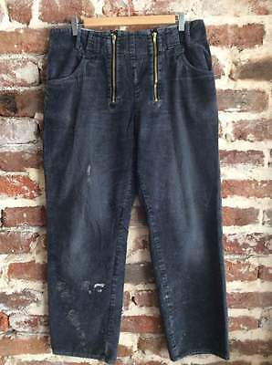 Vtg French Work Wear Chore Corduroy Trousers Pants Peasant Workers Hobo L W36
