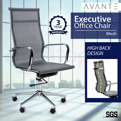 New AVANTE Executive High Back Chair - Office Meeting Boardroom Ergonomic Grey