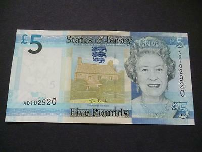 The States Of Jersey Five Pounds Note, A Mint Uncirculated Jersey £5 Note.