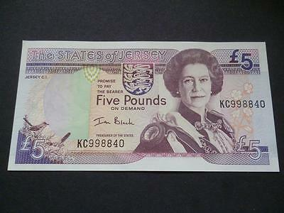 The States Of Jersey Five Pounds Note, A Mint Uncirculated £5 Note, Ian Black.