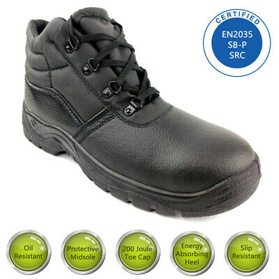 Mens CHUKKA Leather Safety Work Boots with Steel Toe Cap & Midsole Size 3-13 UK