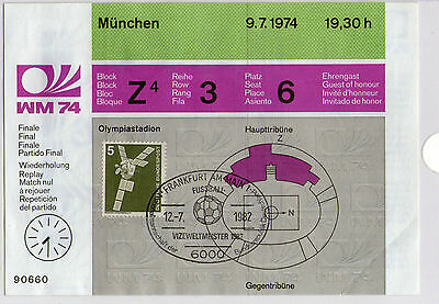 1974 FIFA World Cup Final Reply (UNUSED) TICKET V.GOOD COND.
