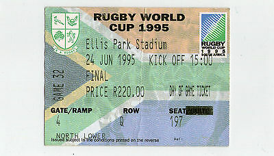 South Africa V New Zealand 1995 Rugby World Cup Final Ticket V.good Con.