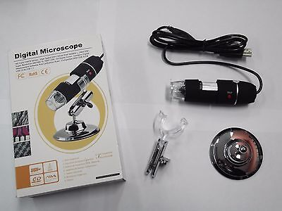 Microscopio Digitale Zmy-1000X 8 Luce Bianca Led 3D Zoom Digitale Usb Nero Nuovo