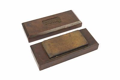 Vintage Natural Sharpening Stone / Oilstone / Honing Stone - In Box - (J. Ding)
