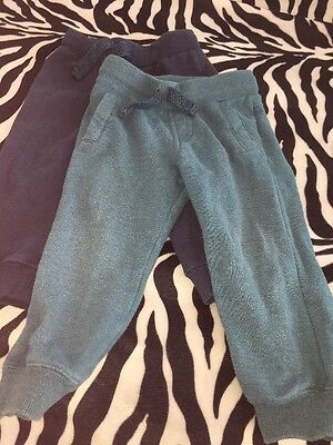 Pair Of Baby Boy Tracksuit Trousers Bottoms 18-24 Months