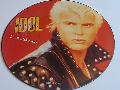 Billy Idol L.a.woman Picture Disc 1990