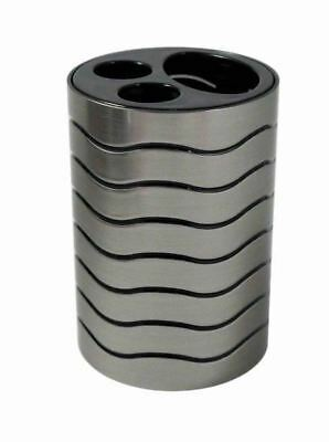 Blue Canyon Ice Collection Toothbrush Holder - Silver / Black