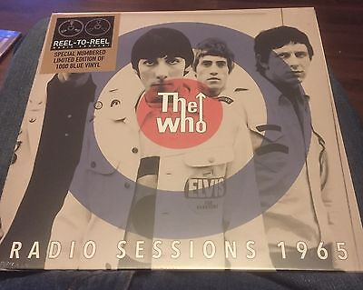 """The Who - Radio Sessions 1965  - 10"""" Blue Vinyl LP - Brand New  - 1000 Only"""