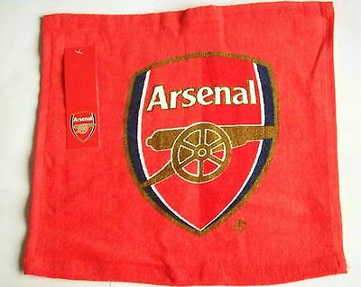 ARSENAL FC OFFICIAL CRESTED FACE CLOTH FLANNEL (30cm x 30cm)