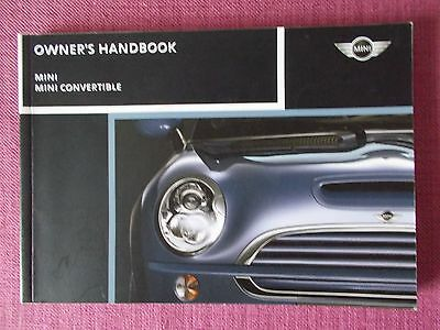 Bmw Mini Hatchback & Convertible (2004 - 2008) Owners Manual - Handbook Sp 101