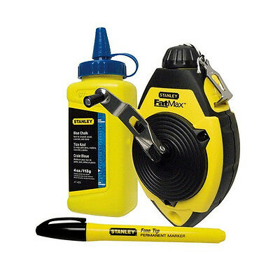 Stanley Fatmax 0-47-465 Powerwinder Chalk Line Set with Chalk & Line
