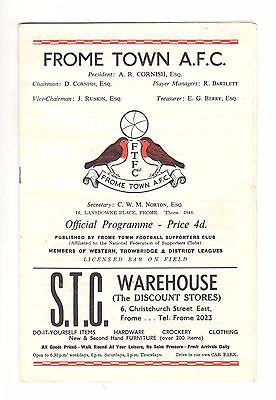 Frome Town v Cheltenham Town late 1960s FA Cup