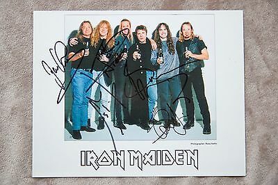 Iron Maiden Signed Print By Entire Band