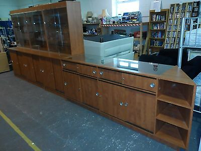 shop display cabinets and counter