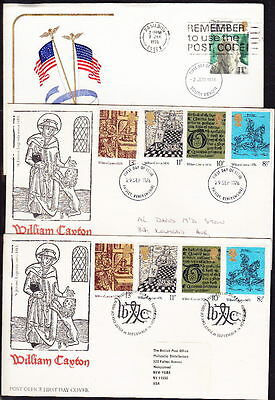 1976, FDC's, 12  Different Covers, some different Postmarks Lot 4442