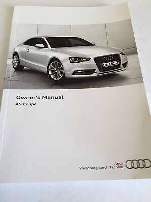 Owners Manual Audi A5 Coupe 2011-2016