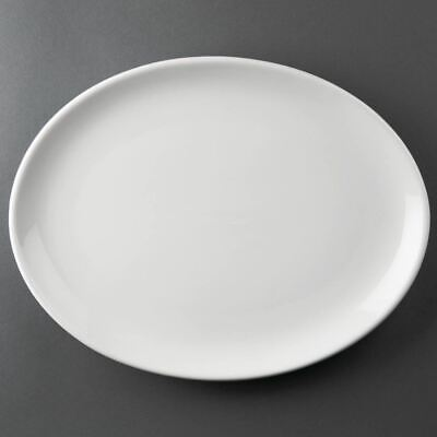 6x Athena Hotelware Oval Coupe Plates 305x 242mm Restaurant Food Serving Dishes