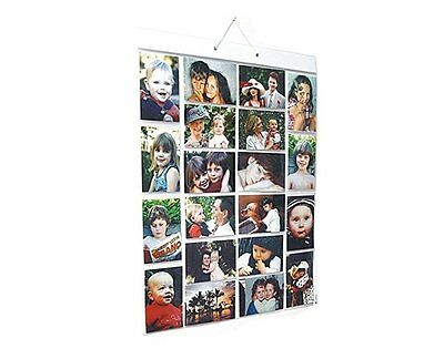 Picture Pockets Mega Hanging Photo Gallery 40 photos in 20 pockets Frame