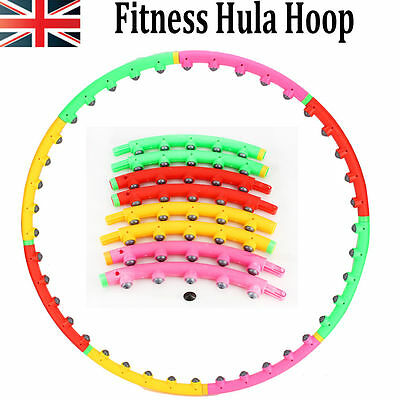 Professional Hula Hoop Weighted Magnetic Fitness Exercise Massager Workout Gym