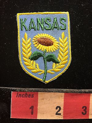 Vtg Kansas Patch Of A Sunflower (where Sunflower Seeds Come From) C71C
