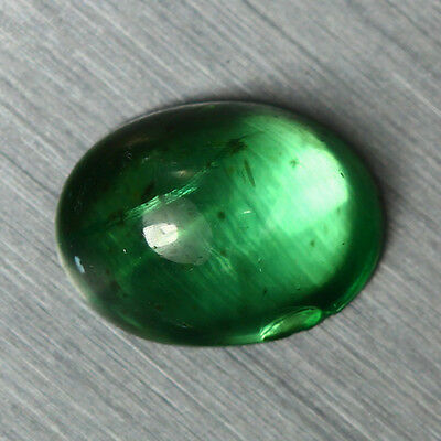 1.370 Ct Natural Unusual Royal Green Color 100% Natural Apatite Cab Rare To Find