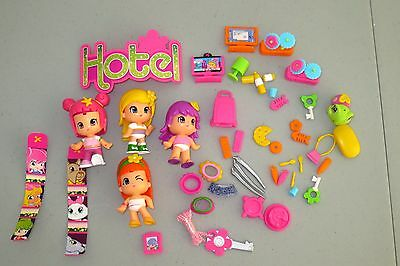 Pinypon Hotel Replacement -- 2 Dolls Accessories KEY  +++   Lot K4