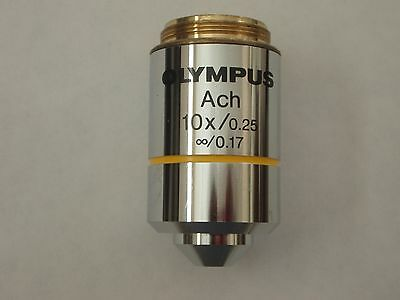 Olympus Achromat 10x Objective For BX Or CX Microscope
