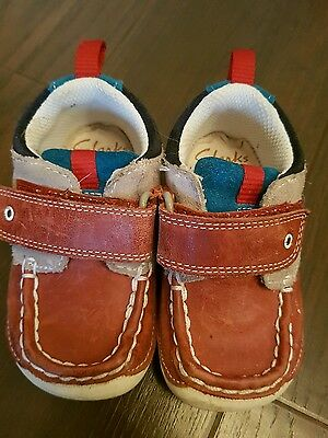 clarks boys shoes first walkers size 4 1/2 g 4.5 G