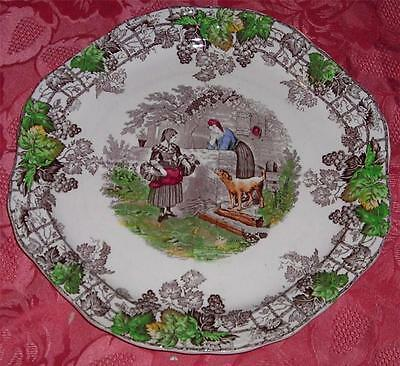 Copeland Spode's Byron Segmented Plate c.1930's In Good Condition