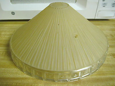 Vintage Art Deco Glass Hanging Lamp Shade Frosted ribbed / runs