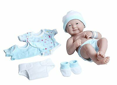 "La Newborn Nursery 8 Piece Layette Baby Doll Gift Set, featuring 14"" Life-Like"