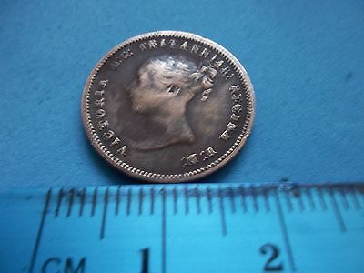 Rare Queen Victoria Copper Hal Farthing Dated 1844 [#c487] Collectors Don,t Miss