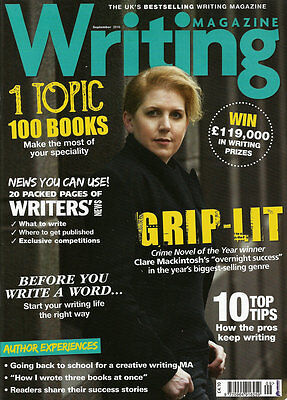 Writing Magazine - September 2016 - See Images For Contents