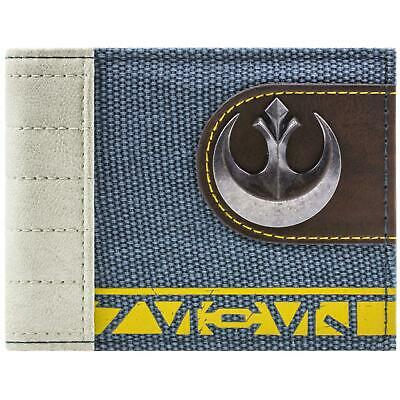 New Official Star Wars Rogue One Rebel Symbol Blue Id & Card Bi-Fold Wallet