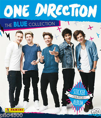 One Direction 1D Blue Album  & All The Stickers To Complete Album Brand New