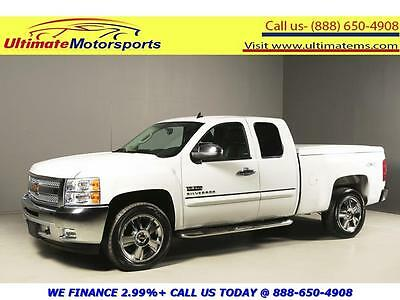 2013 Chevrolet Silverado 1500 LT Extended Cab Pickup 4-Door 2013 CHEVROLET SILVERADO LT EXT CAB 4x4 TEXAS EDITION LEATHER WHITE WARRANTY