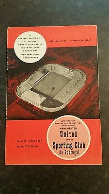 63/64 Manchester United v Sporting Club (With Token)