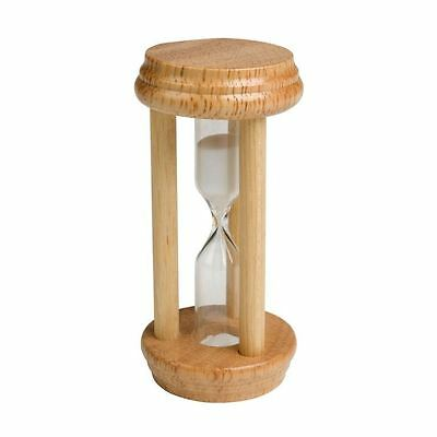 Chef Aid Traditional Wooden Sand Egg Timer 3 Minute Kitchen Utensil Tool - Beige