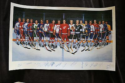 500 Goal Club autographed by 16 players & Ron Lewis JSA Y81357 Authenticated