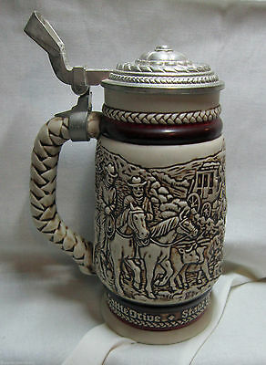 Western Roundup with Pewter Lid Beer Stein, 1981 - Boxed