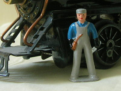 Mechanic with Oil can & Wrench, O scale model train layout figure, Reproduction