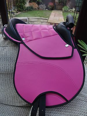"""NEW PADDED CUB SADDLE SUIT SMALL CHILD - 12"""" SEAT BLACK or PINK OPTIONS"""