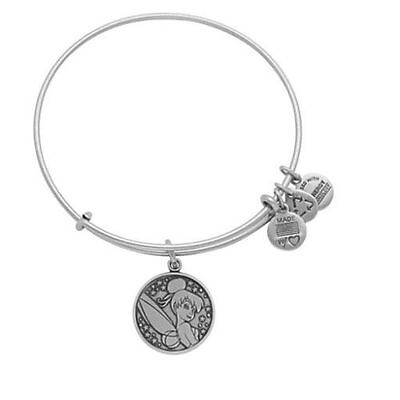 Alex And Ani Disney Tinker Bell Bangle Charm Bracelet Silver New W/tags Retired