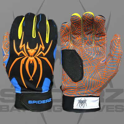 Spiderz HYBRID SOUTH BEACH SMALL ADULT BATTING GLOVES, NEW