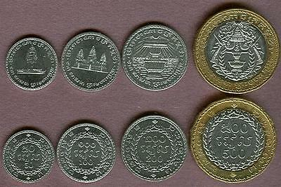 Cambodia 1994 4 Coin Dated Set With Bimetal Uncirculated Towers