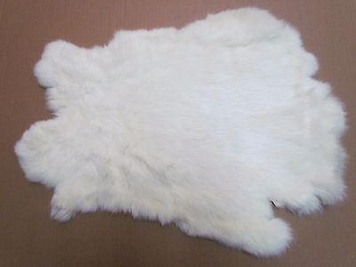 Soft Rabbit Fur Pelt Tanned For Crafts/projects (White) - Approx 16 In X 10 In