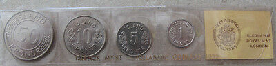 Iceland Coin set 1977, uncirculated.